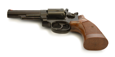 world war one: A classic American revolver in  38 Special