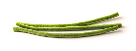 Yardlong bean with white background photo