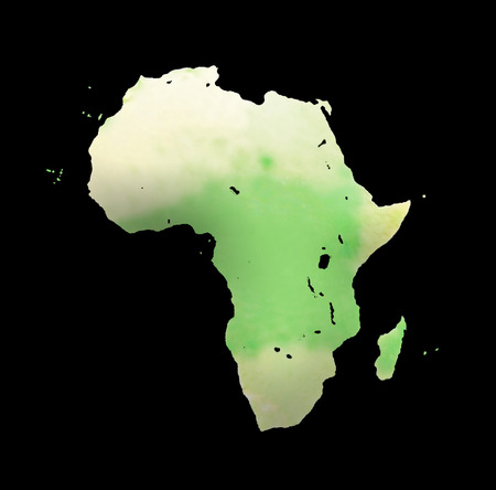 World Map on white background. map of Africa photo