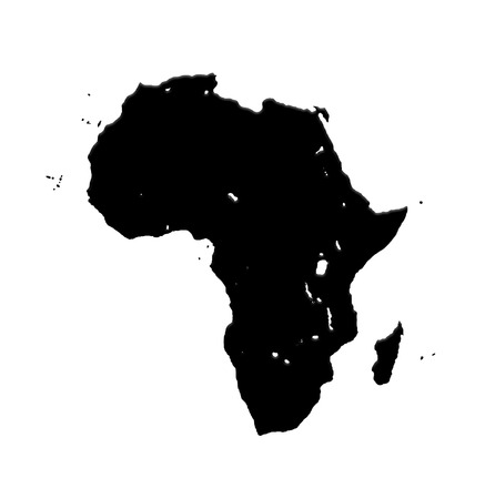 africa continent: World Map on white background. map of Africa