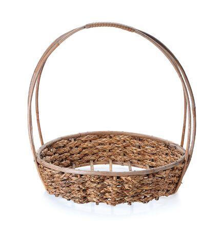 empty basket: basket isolated on white background, empty basket