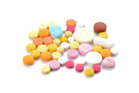 ecstasy pill: pills isolated on white background Stock Photo
