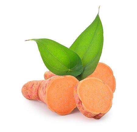 Sweet potato isolated on a white background, photography Banco de Imagens