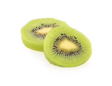 Fresh Kiwi fruit isolated on a white background, photography