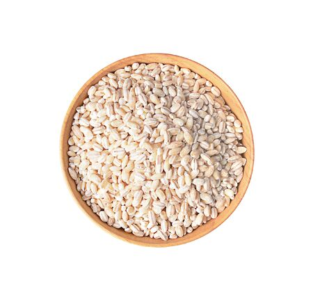 barley isolated on a white background, photography