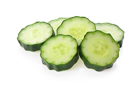 cucumber isolated photography on a white background