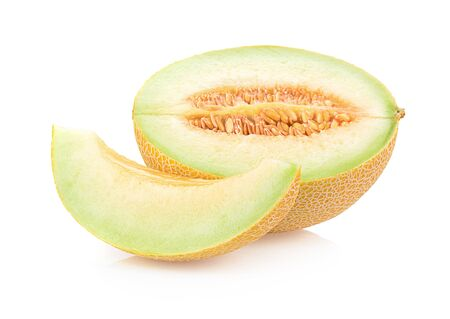 melon isolated on a white background, photography