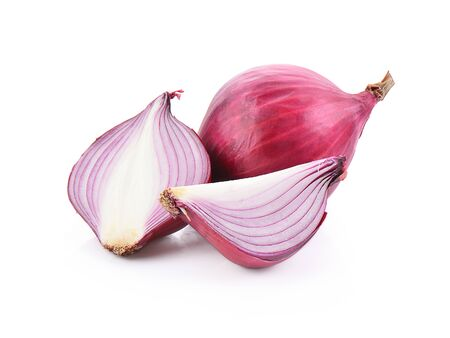 onion isolated on a white background, photography