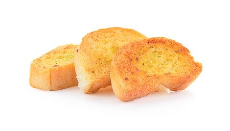 bread isolated on a white background, photography