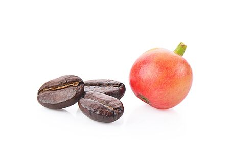 coffee bean isolated on white background, photography