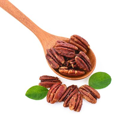 pecan nut isolated on a white background, photography Stock Photo