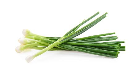 Spring onion isolated on a white background, photography Stockfoto