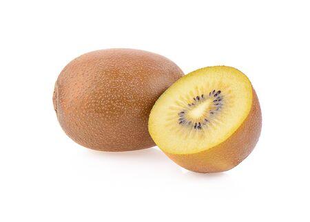 Golden Kiwi Fruit isolated on a white background, photography Stock Photo