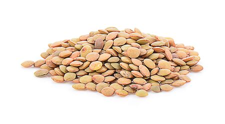 lentil isolated on a white background, photography Stock Photo