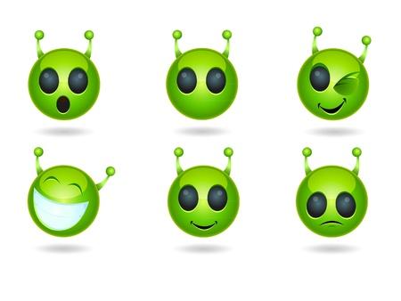 Alien Face Icons