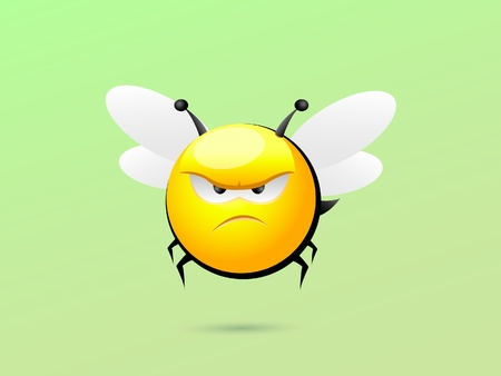 Grumpy Bee Vector