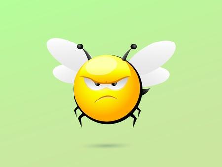 Grumpy Bee Illustration