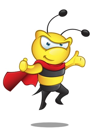 A  illustration of a Super Bee - Presenting Illustration