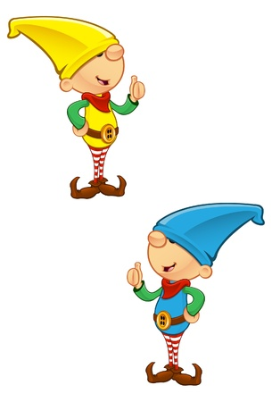 helper: A vector illustration of an Elf giving a thumbs up.