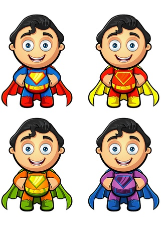 A Super Man Hands On Hips Illustration