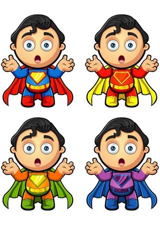 Een Super Man Karakter Geschokt kijkt