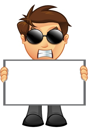 Business Man holding Blank Sign Stock Vector - 20867751