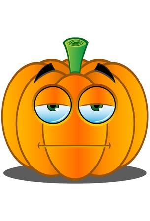 Orange Fruit face expression