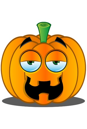 Pumpkin Face Illustration
