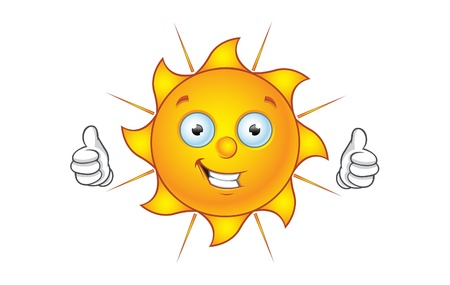 Sun Character Thumbs Up
