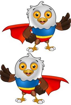 Super Bald Eagle Character