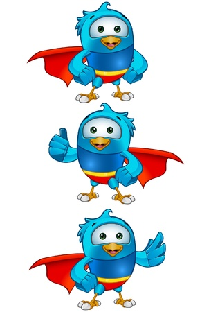tweet: Super Blue Birds Set