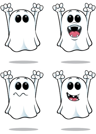 Cartoon Ghosts Illustration