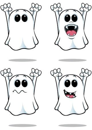 Cartoon Ghosts Stock Illustratie