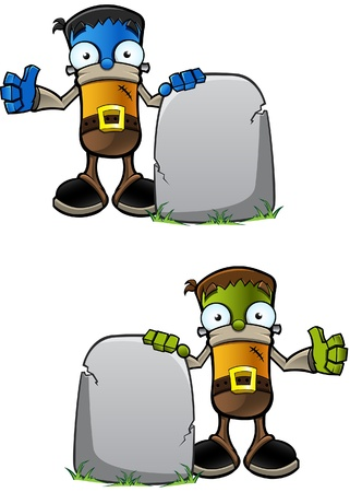 Halloween Monster - With Gravestone