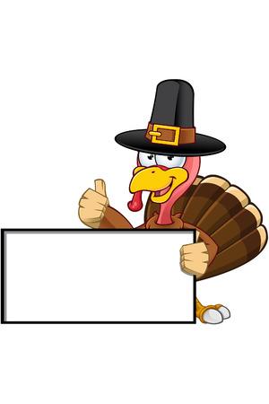 Thanksgiving Turkey karakter Stock Illustratie