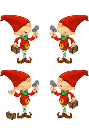 Red Elf - Hammer   Toolbox Vector