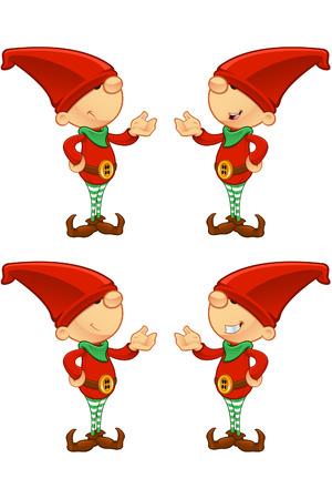 duendes de navidad: Red Elf - Presentaci�n Vectores