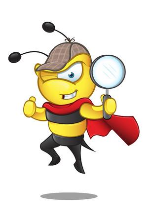 Super Bee - Detective Stock Illustratie