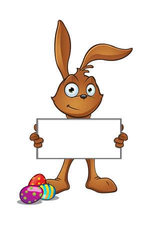 Brown Easter Rabbit Stock Illustratie