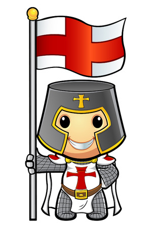 St George Cartoon Knight Illustration