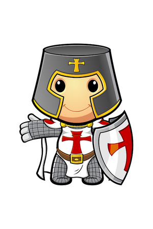 St George Cartoon Knight Vector