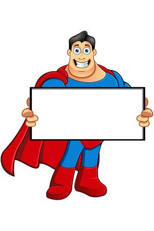 superpower: A Cartoon Superhero Character Illustration