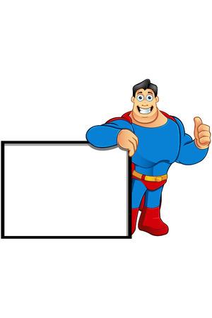 Een Cartoon superherokarakter
