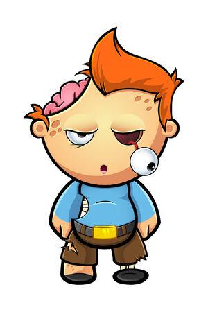 A Cartoon Zombie Boy