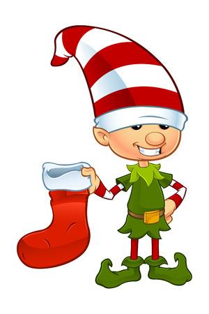 Cute Elf Character Vector