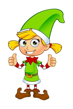 Girl Elf Character In Green