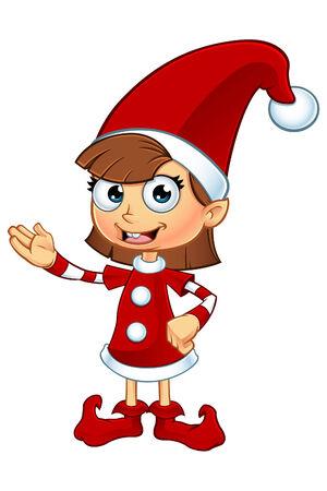 Elf Girl Karakter In Rood