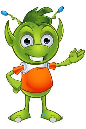 eared: Pointy Eared Alien Character Illustration