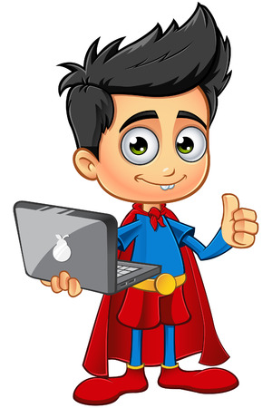 kids costume: Super Boy Character Illustration