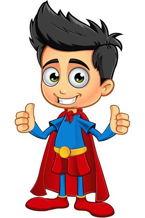 Super Boy Character Illustration